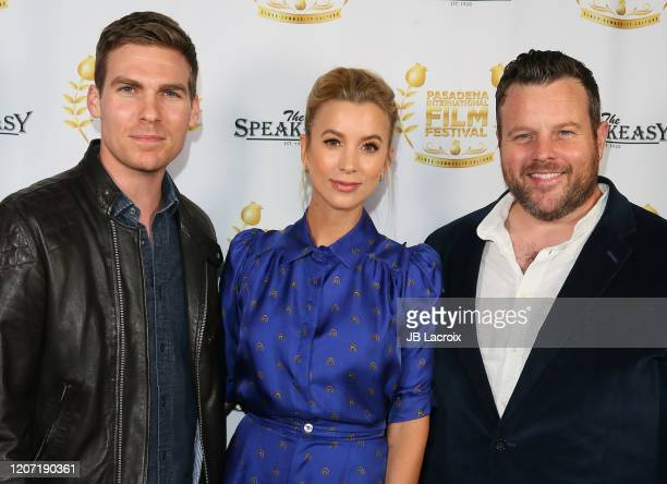 "Pete Ploszek, Sabina Gadecki and Adam Bartley attend the world premiere of ""Honesty Weekend"" at the Pasadena International Film Festival on March 14,..."