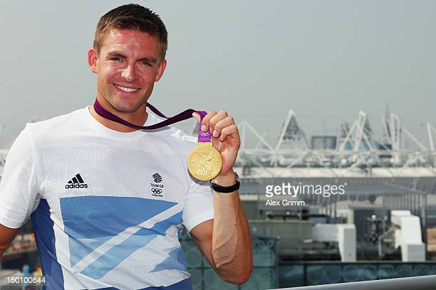 Pete Reed of Team GB at the adidas Olympic Media Lounge at Westfield Stratford City on August 10 2012 in London England