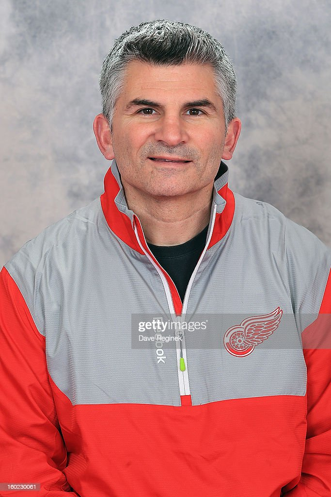 Pete Renzetti, Strength and Conditioning Coach of the Detroit Red Wings, poses for his official headshot for the 2012-2013 season at Joe Louis Arena on January 26, 2013 in Detroit, Michigan.