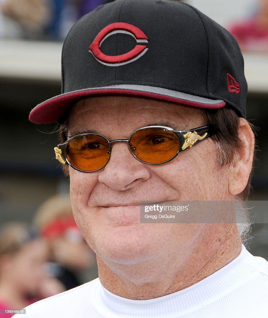 Pete Rose at the Steve Garvey Celebrity Softball Game for ALS Research at Pepperdine University's Eddy D. Field Stadium on July 10, 2010 in Malibu, California.