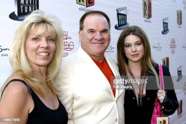 Pete Rose wife Carol and daughter Chea during Tony Orlando and Dawn Perform at the 3rd Annual Super Concert Series at the Grove Arrivals at The Grove...