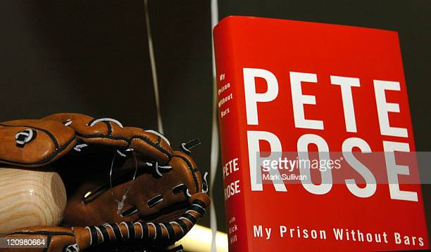 Pete Rose's new book 'My Prison Without Bars' during Pete Rose Signs His New Book 'My Prison Without Bars' at WalMart in Stevenson Ranch California...