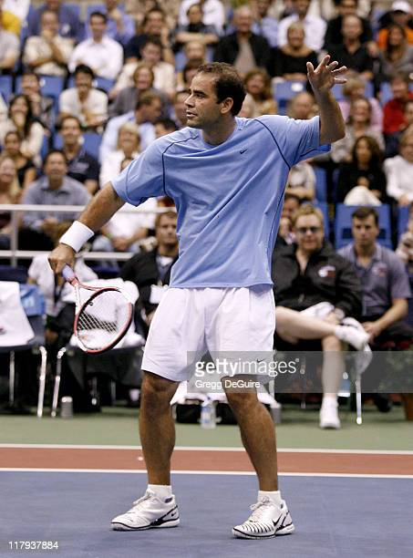 Pete Sampras at the Advanta WTT Smash Hits tennis event at the Bren Center at UC Irvine in Irvine California on September 14 2006