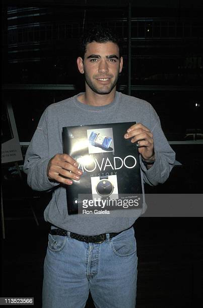 Pete Sampras during Pete Sampras Autographing his Page in the New Movado Book at Barnes and Noble in New York City, New York, United States.