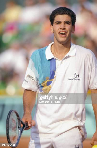 Pete Sampras lors des Internationaux de France de tennis à RolandGarros le 31 mai 1991 à Paris France