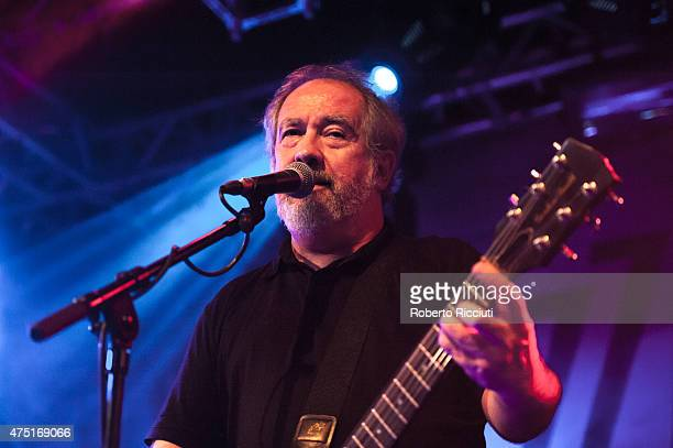 Pete Shelley of Buzzcocks performs on stage at The Liquid Room on May 29 2015 in Edinburgh United Kingdom