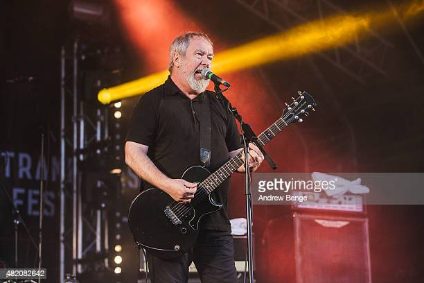 Pete Shelley of Buzzcocks performs on the Main Stage at Tramlines Festival on July 26 2015 in Sheffield United Kingdom