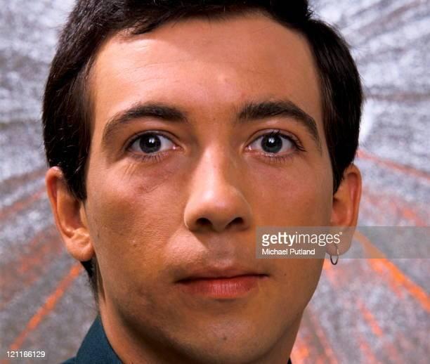 Pete Shelley of the Buzzcocks solo era studio portrait London 1981