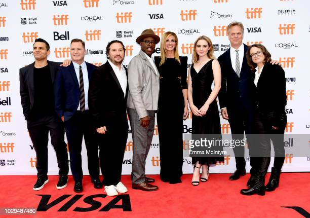 Pete Shilaimon Mickey Liddell Teddy Schwarzman Courtney B Vance Julia Roberts Kathryn Newton Peter Hedges and Nina Jacobson attend the Ben Is Back...