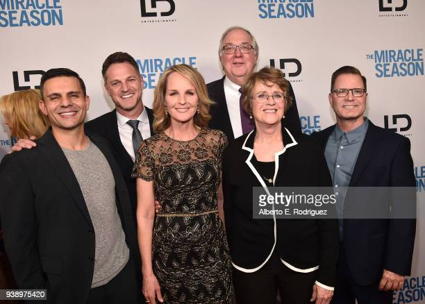 Pete Shilaimon Scott Holroyd Helen Hunt Ernie Found Kathy Bresnahan and Campbell McInnes attend the Premiere Of Mirror And LD Entertainment's The...