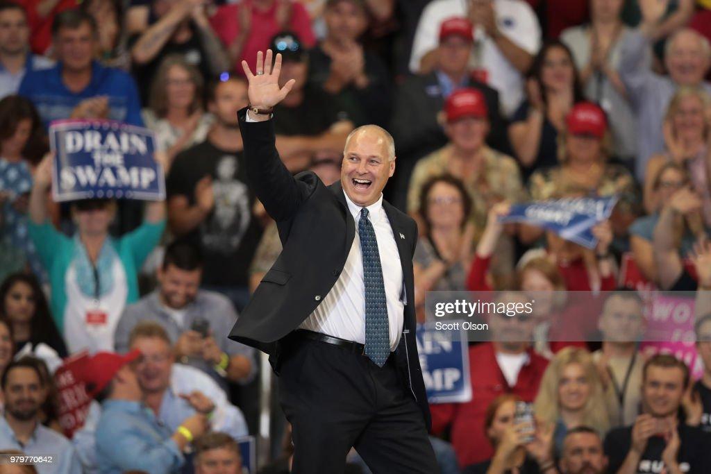 Donald Trump Holds Rally In Duluth, Minnesota : News Photo