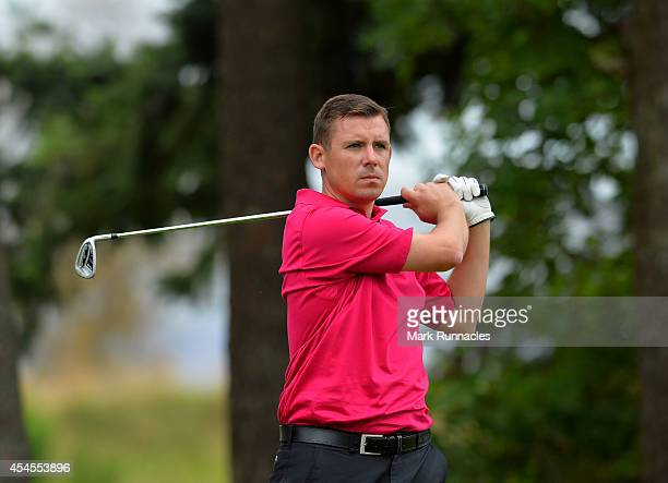 Pete Talbot of Farnham Golf Club in action during the second round of the Lombard Trophy Grand Final at Gleneagles on September 3 2014 in...