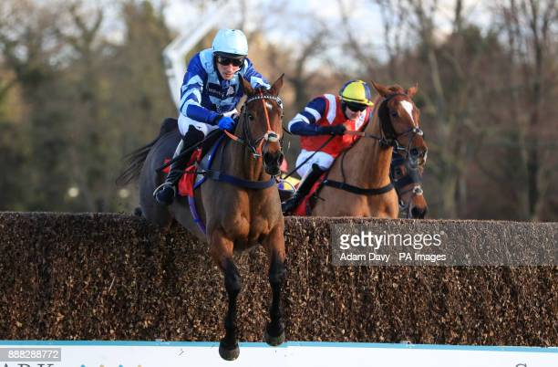 Pete the Feat ridden by Damien Skehan wins the Holiday Inn Shepperton Amateur Riders' Handicap Steeple Chase during day one of the Betfair Tingle...