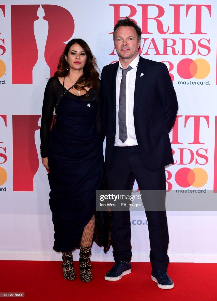 Pete Tong and Carolina Acosta attending the Brit Awards at the O2 Arena, London.