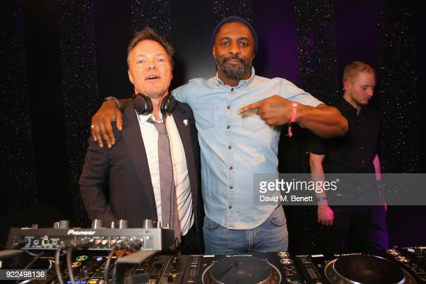 Pete Tong and Idris Elba DJ at the Brits Awards 2018 After Party hosted by Warner Music Group Ciroc and British GQ at Freemasons Hall on February 21...