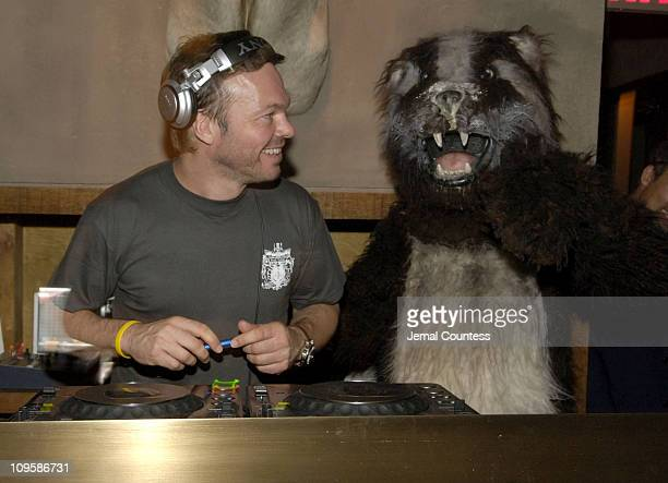 Pete Tong and The Coke Badger during 'It's All Gone Pete Tong' North American Premiere After Party at Cain in New York City New York United States