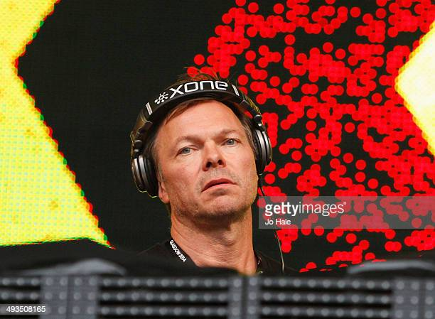 Pete Tong DJ's on stage during BBC Radio 1's Big Weekend at Glasgow Green on May 23 2014 in Glasgow United Kingdom