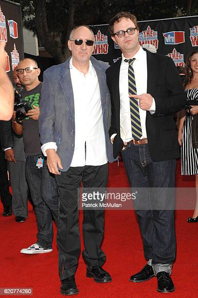 Pete Townsend and Rainn Wilson attend 3rd Annual VH1 Rock Honors at Pauley Pavillion on July 12 2008 in Westwood CA