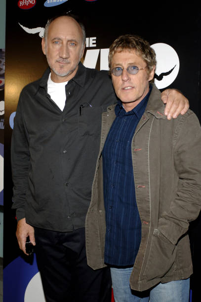 c48806a11b9c8 Pete Townshend and Roger Daltrey of The Who during The Who s  Tommy and  Quadrophenia -