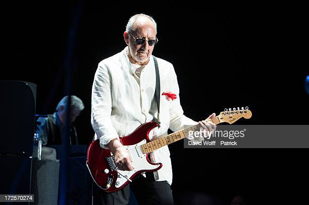 Pete Townshend from The Who performs at Palais Omnisports de Bercy on July 3 2013 in Paris France