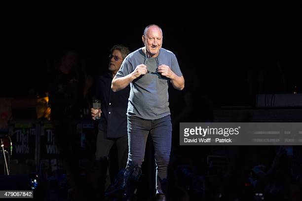 Pete Townshend from The Who performs at Zenith de Paris on June 30, 2015 in Paris, France.
