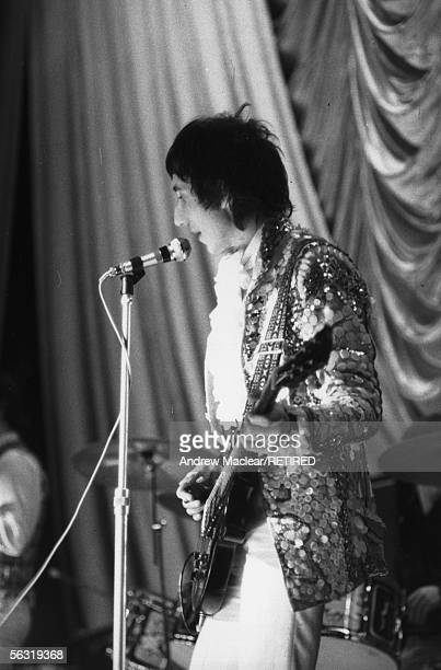 Pete Townshend guitarist and songwriter for The Who performing on stage circa 1967