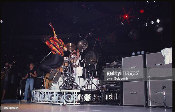 Pete Townshend Jumping During Performance