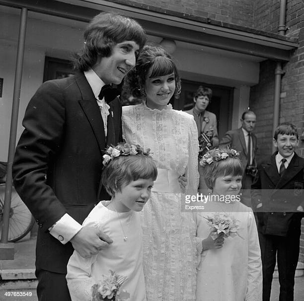 Pete Townshend, lead guitarist with 'The Who', marrying Karen Astley, May 20th 1968.