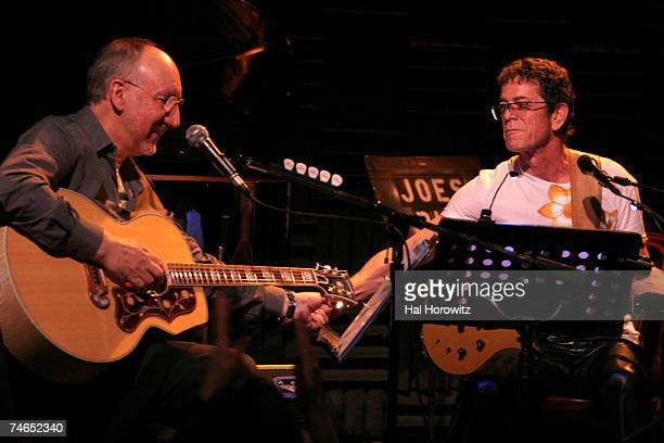 Pete Townshend of The Who and Lou Reed at the Joe's Pub in New York City New York