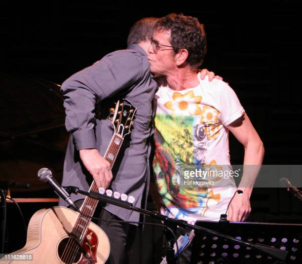 Pete Townshend of The Who and Lou Reed during Pete Townshend of The Who and Rachel Fuller Hold Attic Jam Show at Joe's Pub February 20 2007 at Joe's...
