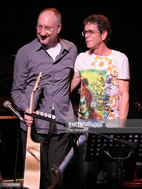 Pete Townshend of The Who and Lou Reed during Pete Townshend of The Who and Rachel Fuller Hold Attic Jam Show at Joe's Pub - February 20, 2007 at...
