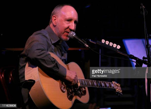Pete Townshend of The Who during Pete Townshend of The Who and Rachel Fuller Hold Attic Jam Show at Joe's Pub February 20 2007 at Joe's Pub in New...