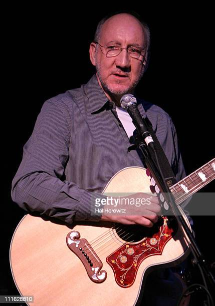 Pete Townshend of The Who during Pete Townshend of The Who and Rachel Fuller Hold Attic Jam Show at Joe's Pub - February 20, 2007 at Joe's Pub in New...