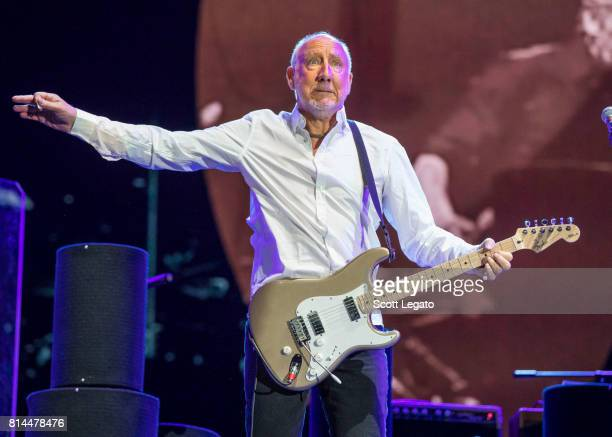 Pete Townshend of The Who performs at Festival d'ete de Quebec on July 13 2017 in Quebec City Canada