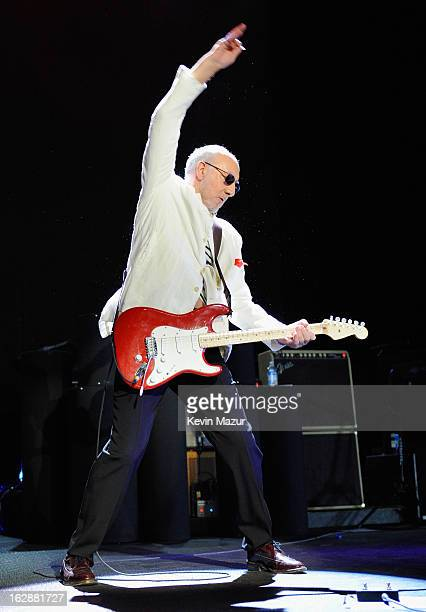 Pete Townshend of The Who performs during the Who Cares Benefit For Teen Cancer America Memorial SloanKettering Cancer Center at The Theater at...