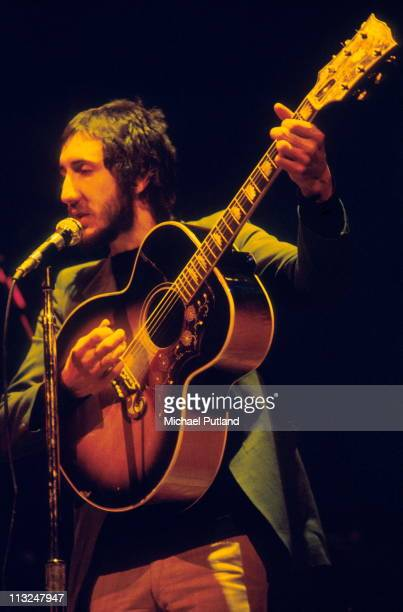 Pete Townshend of The Who performs in a stage version of the rock opera Tommy Rainbow Theatre London 9th December 1972