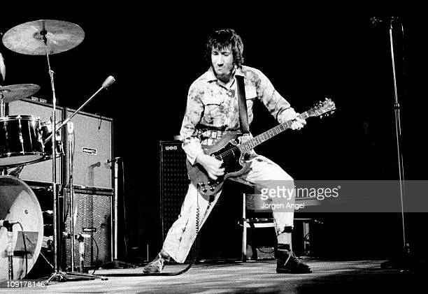 Pete Townshend of The Who performs live on stage at Falkoner Centret in Copenhagen, Denmark on 20th September 1970.
