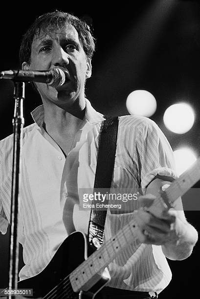 Pete Townshend of The Who performs on stage, NEC, Birmingham, United Kingdom, 1982.