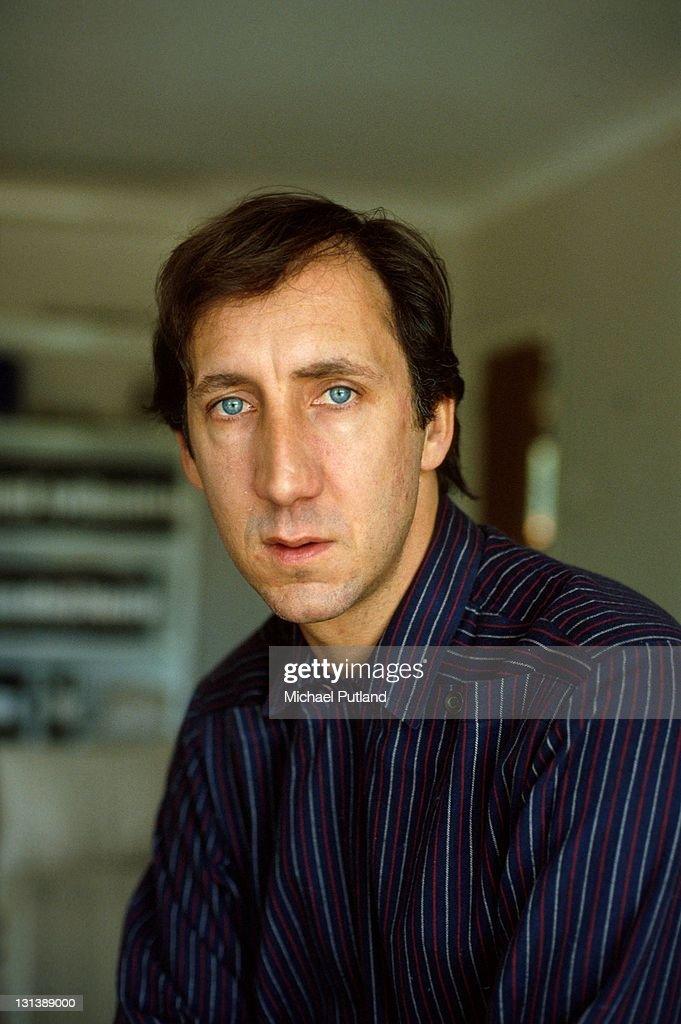 Pete Townshend of The Who, portrait, Twickenham, UK, 1982.