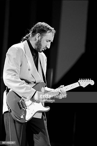 Pete Townshend performing with The Who in Buffalo New York on July 18 1989