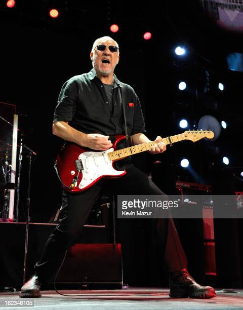 Pete Townshend performs at Nassau Coliseum, Long Island on February 21, 2013 in New York City.