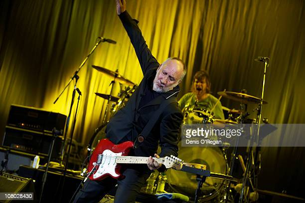 Pete Townshend performs during 'A Concert For Killing Cancer' at Hammersmith Apollo on January 13, 2011 in London, England.