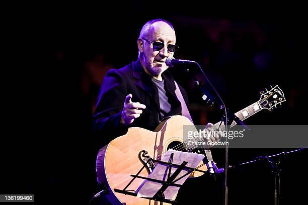 Pete Townshend performs on stage at the Royal Albert Hall as part of the Prince's Trust Gala on November 23, 2011 in London, UK.