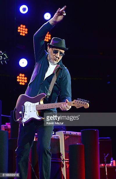 Pete Townshend performs onstage during The Who Hits 50 North American tour at Prudential Center on March 19 2016 in Newark New Jersey