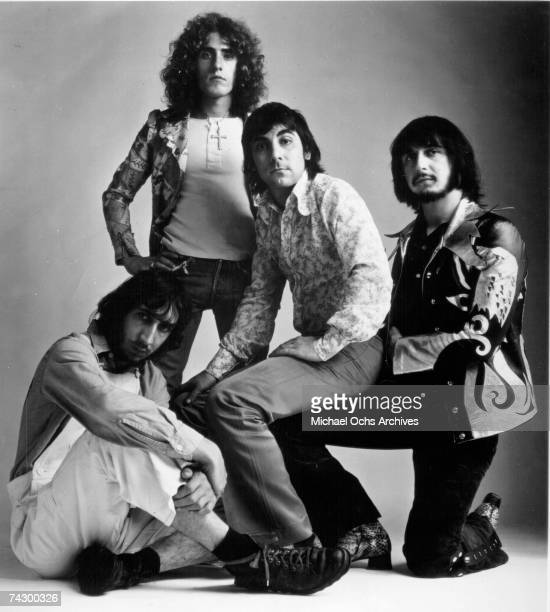 Pete Townshend Roger Daltrey Keith Moon and John Entwistle of the rock and roll band The Who pose for a portrait to promote the release of their...