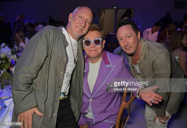 Pete Townshend Sir Elton John and Julian Lennon attend the first Midsummer Party hosted by Elton John and David Furnish to raise funds for the Elton...