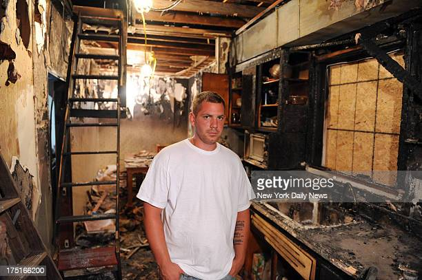 Pete Vadola stands in his burnt out kitchen The Staten Islander who saved 200 neighbors with a borrowed boat during Hurricane Sandy is left homeless...