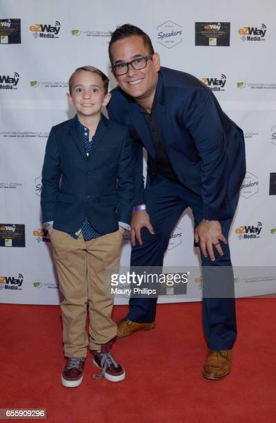Pete Vargas and son Keeton Vargas arrive at the 1st Annual Influencers Unite Gala and Eric Zuley birthday celebration on March 18 2017 in Dana Point...