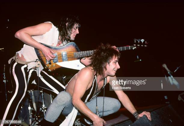 Pete Way and Fin Muir performing with Waysted at the Meadowlands in East Rutherford, New Jersey on January 22,1984.