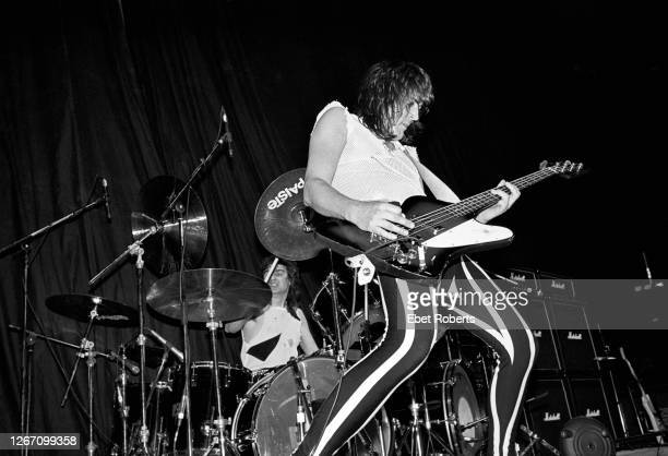 Pete Way performing with Waysted at the Meadowlands in East Rutherford, New Jersey on January 22,1984.